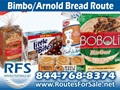 Arnold & Bimbo Bread Route For Sale, Greater Greenwood, SC
