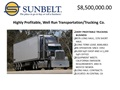 Profitable, Well Run Southern California Trucking Company For Sale