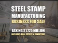 Steel Stamping Business, est. 43 Years, R/E and Inventory Included.