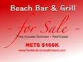 Nets $166K - Beach Bar For Sale With Best Views - Price Includes Real Estate