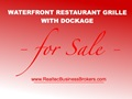 Waterfront With Dockage Prime #1 Best Lakefront Restaurant For Sale! Million $$ Buildout!