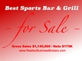Nets $175K - Best Sports Bar And Grill For Sale