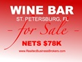 Nets $78K - Wine Bar For Sale In St. Petersburg, Florida
