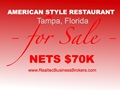 Nets $70K - American Style Restaurant For Sale In Tampa, FL - Only $100K Down Payment To Buy