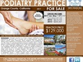 California Podiatry Practice For Sale