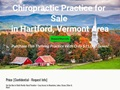 Chiropractic Practice for Sale in Upper Valley Vermont / NH Area