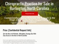Chiropractic Practice for Sale in Vibrant Growing City in Central North Carolina