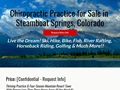 Chiropractic Practice For Sale in Steamboat Springs Colorado